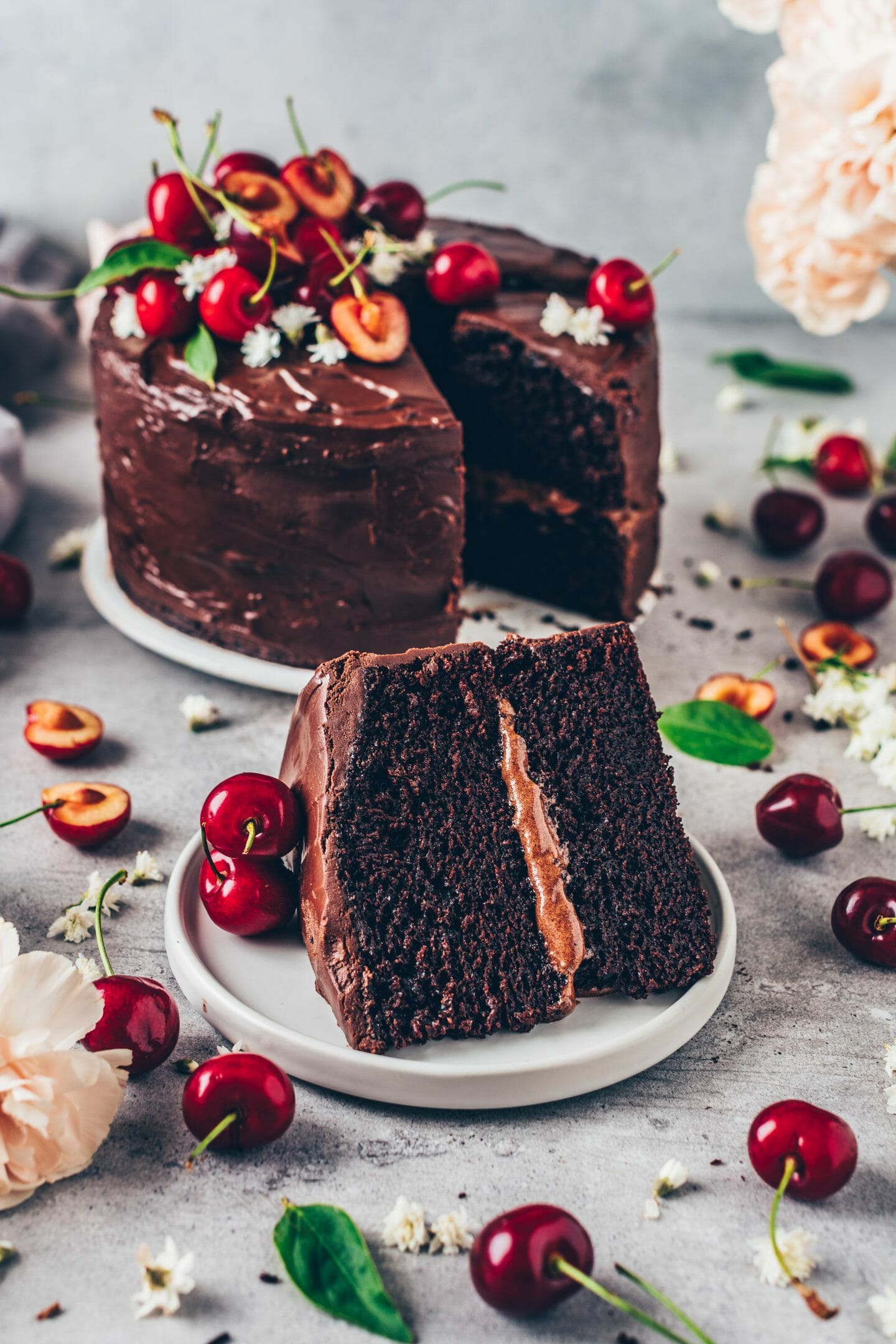 Easiest Way to Cook Perfect Vegan Chocolate Berry Cake