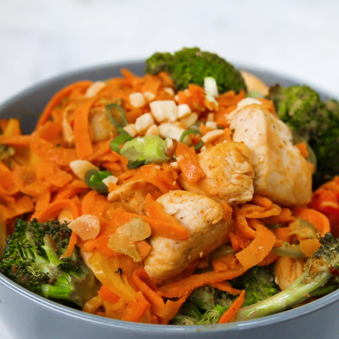 How to Make Tasty Diced Sweet Potato and Chicken Chinese-Style Stir Fry