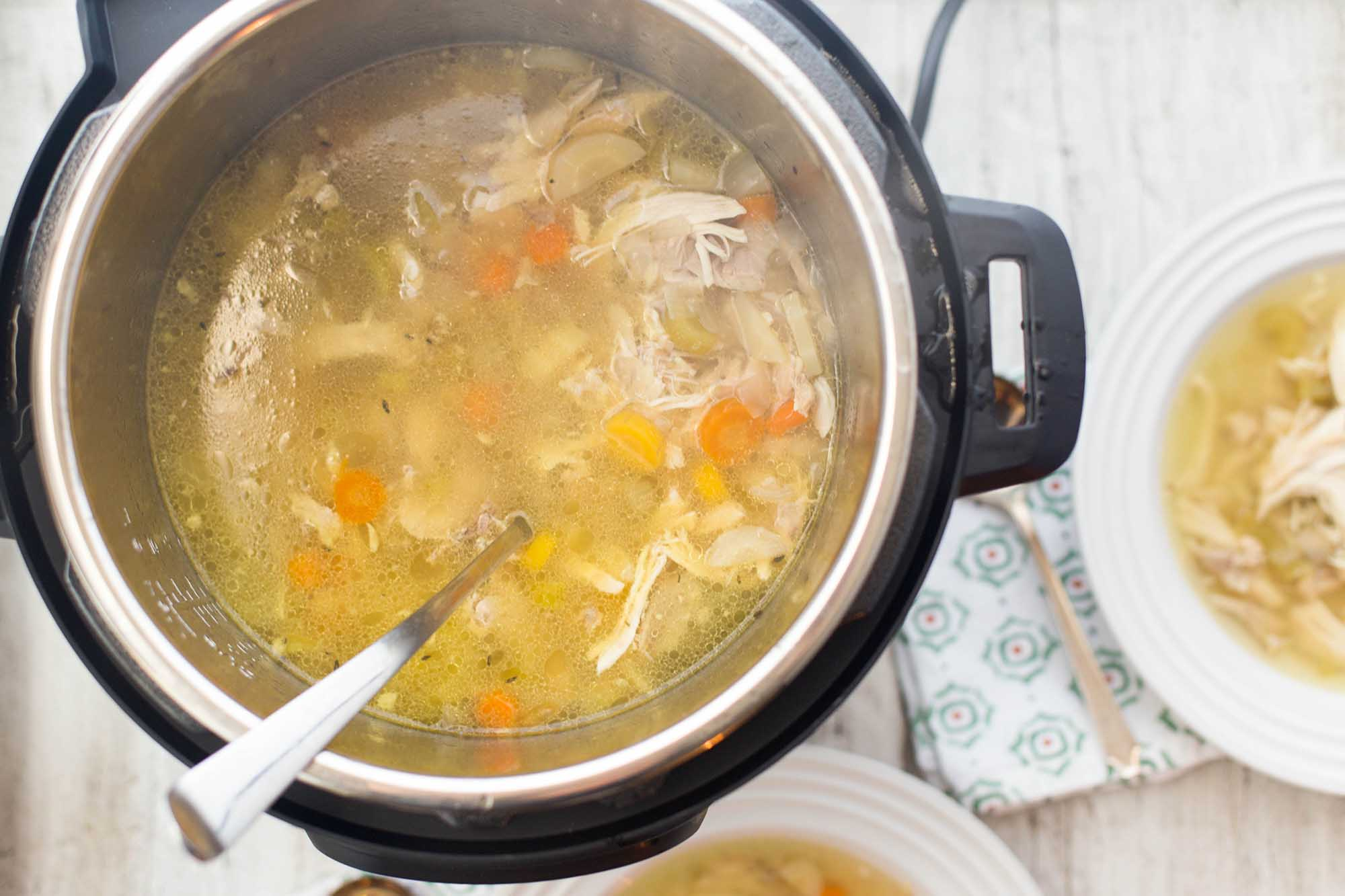 How to Prepare Delicious Chicken Soup using Pressure Cooker