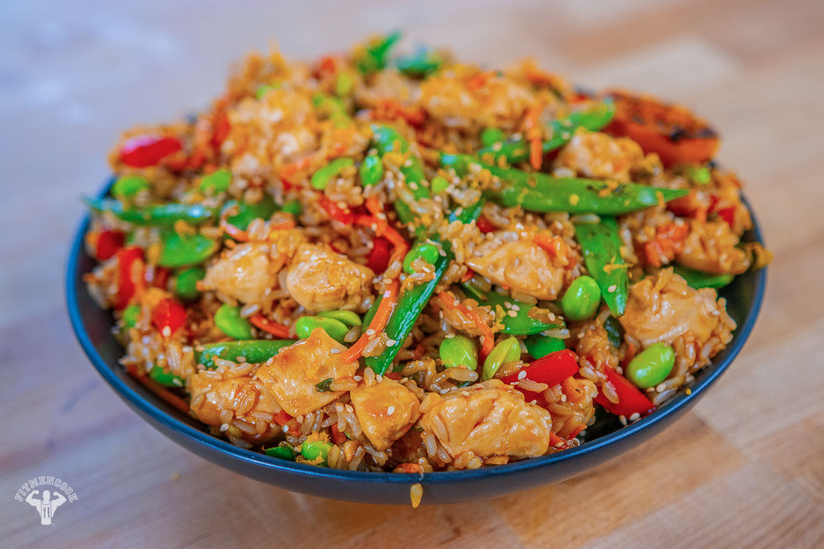 How to Prepare Delicious EASY orange chicken and fried rice