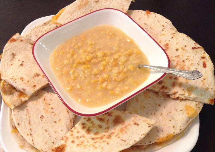 Recipe: Appetizing Cray Cray Easy Chicken And Cheese Quesadillas