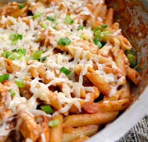 Recipe: Appetizing CrockPot Easy Creamy Chicken Enchilada Pasta 🍝