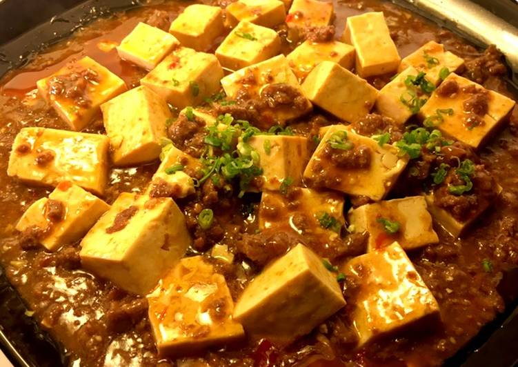 Recipe: Perfect Mapo Tofu  Braised silken tofu and ground beef with spicy sauce