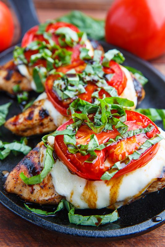 Recipe: Tasty Balsamic Grilled Chicken & Tomatoes