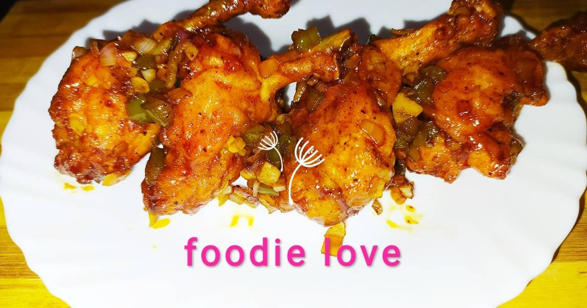 Recipe: Yummy Indo Chinese Saucy Lollipop chicken